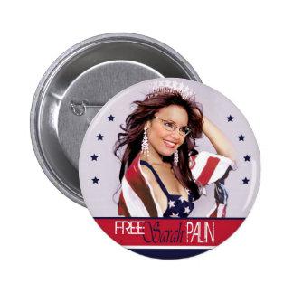 Sarah libre Palin Pin Redondo De 2 Pulgadas