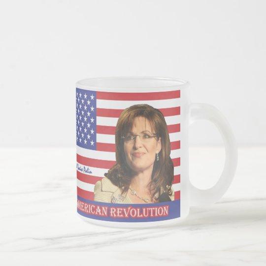 Sarah Louise Palin Frosted Glass Coffee Mug