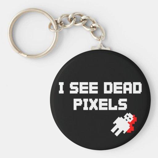 Sarah Marshall Dead Pixels Keychain