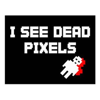 Sarah Marshall Dead Pixels Postcard