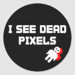 Sarah Marshall Dead Pixels Round Stickers