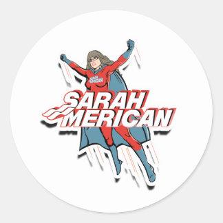 SARAH MERICAN ROUND STICKER