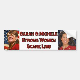 Sarah & Michele Strong Women Scare Libs Car Bumper Sticker