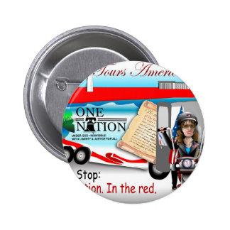 Sarah One Nation Pinback Button