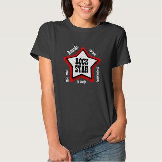 SARAH or ANY NAME Rock Star RED BLACK V05 T-Shirt