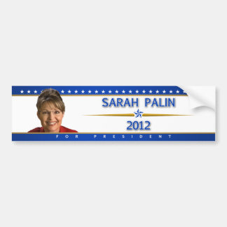 Sarah Palin 2012 bumper sticker