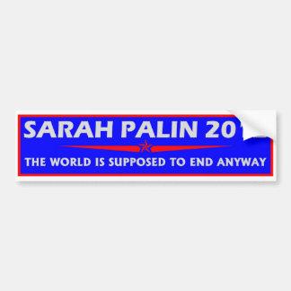 Sarah Palin 2012 Etiqueta De Parachoque