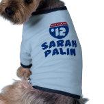 Sarah Palin 2012 Camisetas De Perrito