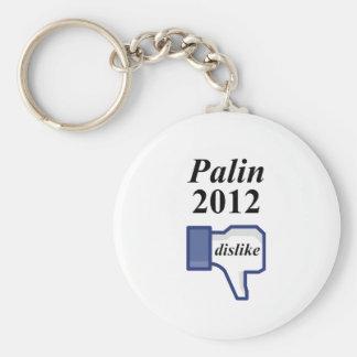 SARAH PALIN 2012 DISLIKE BASIC ROUND BUTTON KEYCHAIN