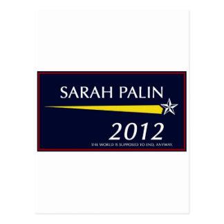 Sarah Palin 2012 divertido Postal