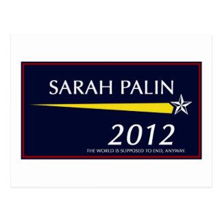 Sarah Palin 2012 divertido Tarjetas Postales