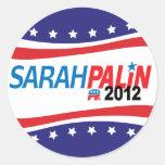 Sarah Palin 2012 Etiqueta Redonda
