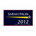 Sarah Palin 2012 Funny Postcard