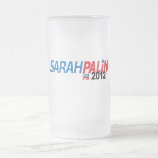 Sarah Palin 2012 16 Oz Frosted Glass Beer Mug