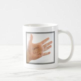 Sarah Palin 2012 on hand Coffee Mug