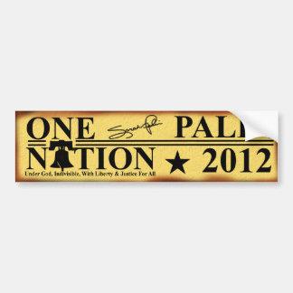Sarah Palin 2012 - One Nation Car Bumper Sticker