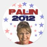 Sarah Palin 2012 Pegatina Redonda