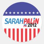 Sarah Palin 2012 Pegatinas Redondas