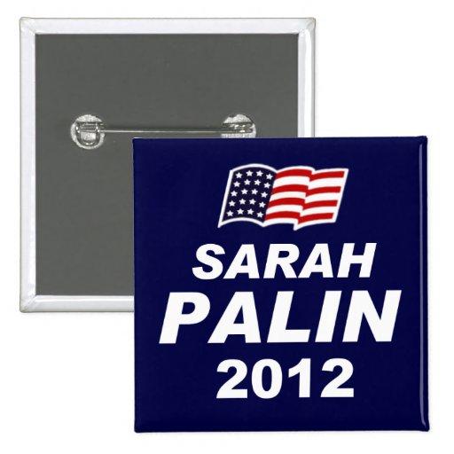 Sarah Palin 2012 Pin Cuadrada 5 Cm