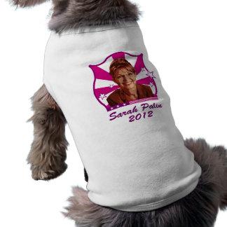 Sarah Palin 2012 Playera Sin Mangas Para Perro