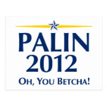 Sarah Palin 2012 Post Card