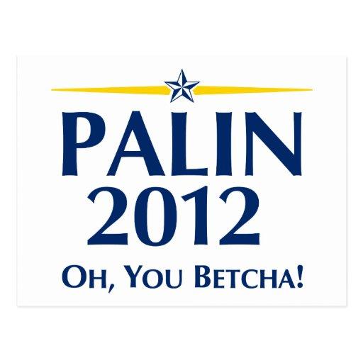 Sarah Palin 2012 Post Card