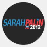 Sarah Palin 2012 Round Stickers