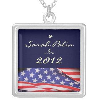 Sarah Palin 2012 Silver Necklace