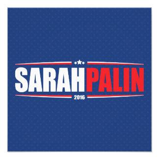 Sarah Palin 2016 (estrellas y rayas - azul) Impresión Fotográfica