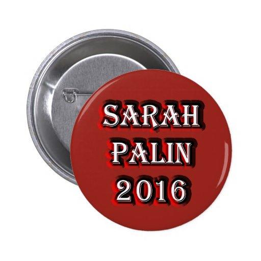 Sarah Palin 2016 Pin Redondo 5 Cm