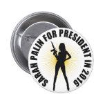 Sarah Palin 2016 Pin Redondo De 2 Pulgadas