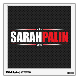 Sarah Palin 2016 (Stars & Stripes - Black) Wall Sticker