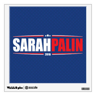 Sarah Palin 2016 (Stars & Stripes - Blue) Wall Decal