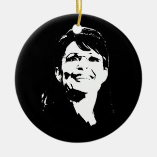 Sarah Palin 3 Double-Sided Ceramic Round Christmas Ornament