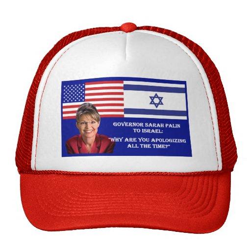 Sarah Palin a Israel Gorros