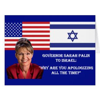 Sarah Palin a Israel Tarjetas