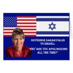 Sarah Palin a Israel Tarjeta De Felicitación