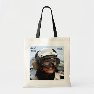 Sarah Palin Aboard The U.S.S. Stennis Tote Bag