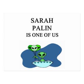 sarah palin, alien postcard