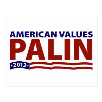 Sarah Palin American Values Postcard