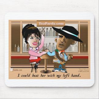 Sarah Palin and Obama Mano a Mano Mouse Pad