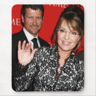 Sarah Palin and Todd Time magazine Mousepad