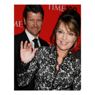Sarah Palin and Todd Time magazine Poster