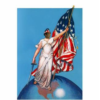 Sarah Palin As A Lady Liberty Figure Sword & Flag Cutout