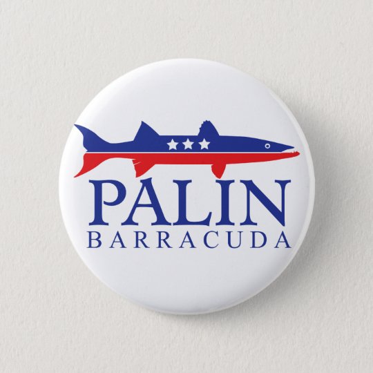 Sarah Palin Barracuda Pinback Button
