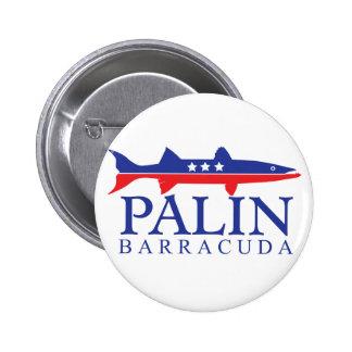 Sarah Palin Barracuda Pinback Button