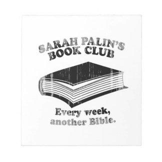 Sarah Palin Book Club Faded png Note Pad