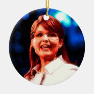 Sarah Palin Ceramic Ornament