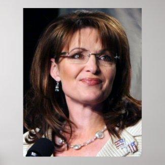 Sarah Palin Chambliss Rally Poster print