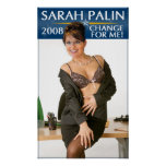 Sarah Palin - Change For Me! Poster